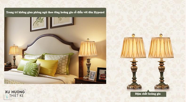 Vẻ đẹp cổ điển của đèn Hypenol trong không gian phòng ngủ