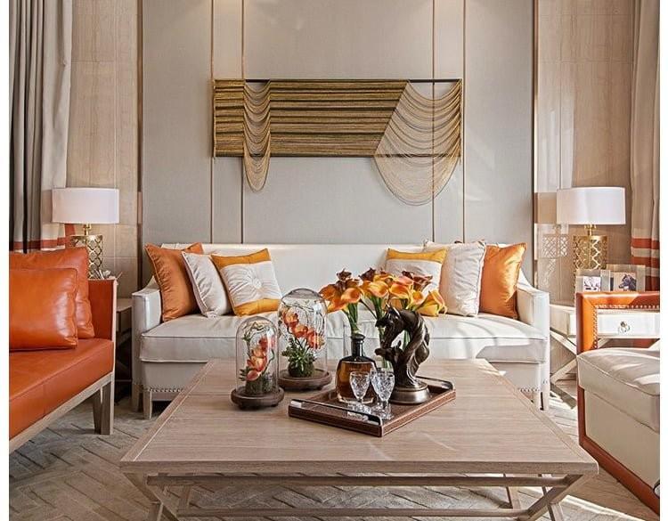 Đèn ngủ Melina sang trọng và quý phái trong trang trí không gian phòng khách