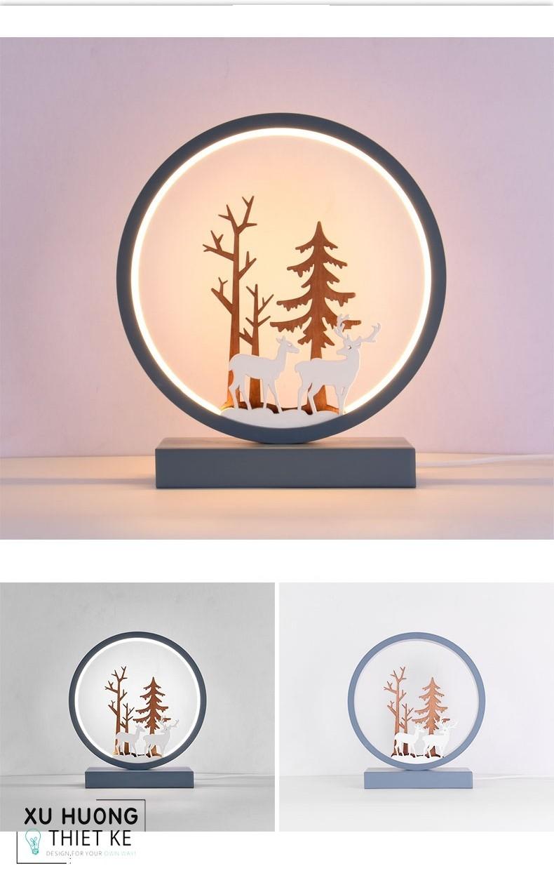Đèn Tinama điêu khắc nghệ thuật hình hươu mẫu  2
