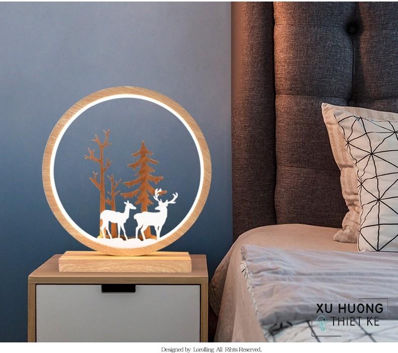 Đèn Tinama điêu khắc nghệ thuật hình hươu mẫu  3