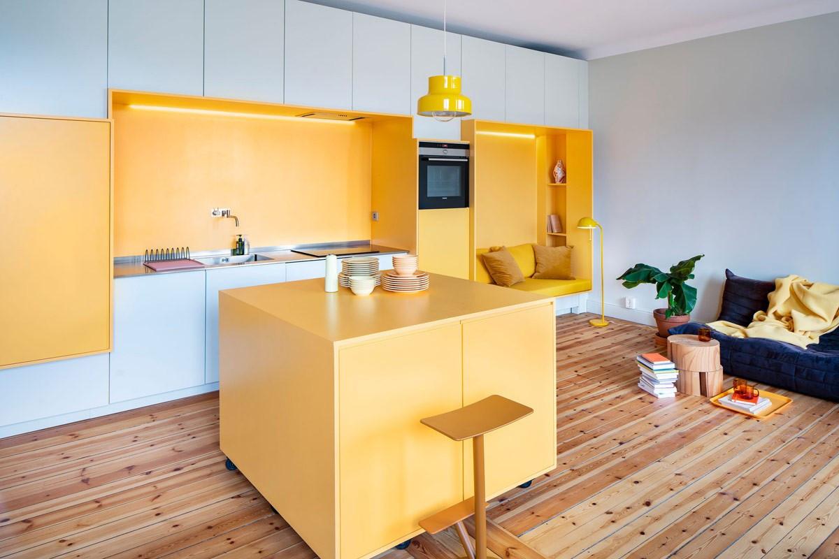 Thiết kế ấn tượng với tông màu vàng nắng