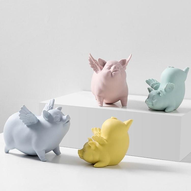 Tượng trang trí Funny Pigs