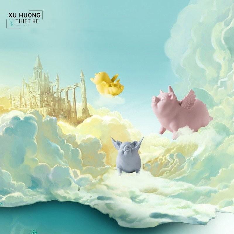 Tượng trang trí Funny Pigs dễ thương và vui nhộn
