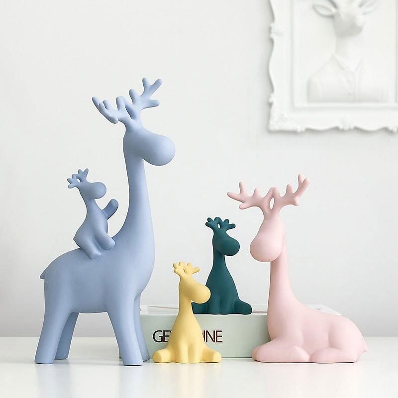 Tượng trang trí Happy Deers
