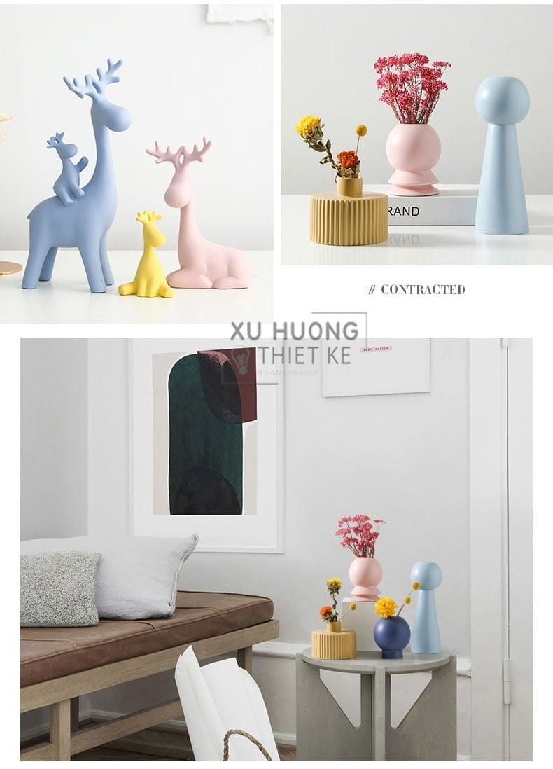 Bộ tượng Happy Deers cực kỳ thích hợp với không gian pastel