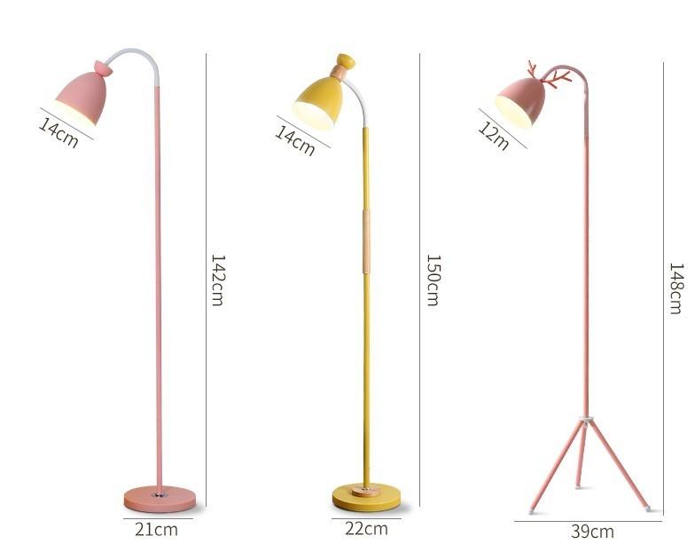 Kích thước của đèn cây đứng pastel late