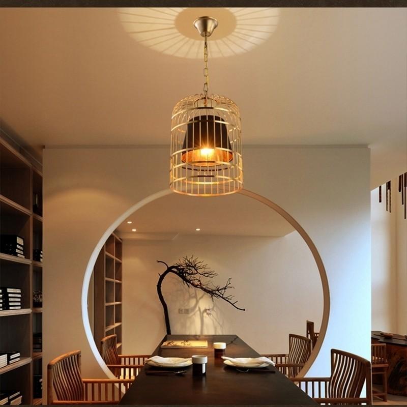 Đèn thả trần Bird Cage trong không gian phòng khách