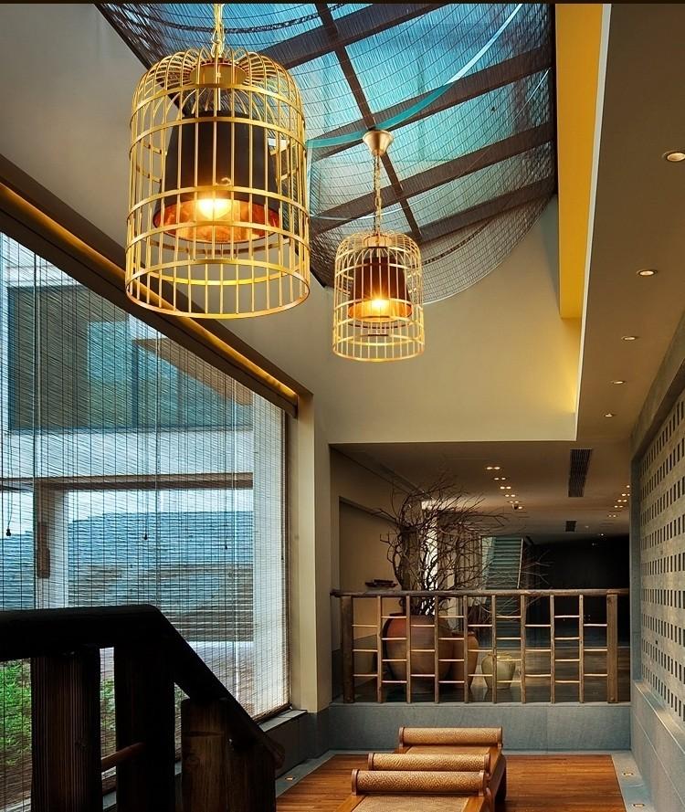 Đèn thả trần Bird Cage trong không gian tiền sảnh