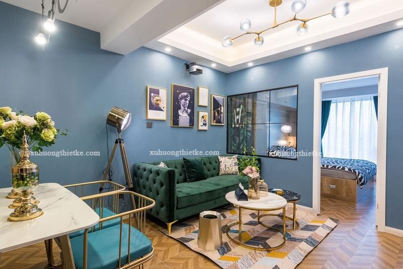 Xác định vị trí đặt đèn cây đứng trong không gian phòng khách là việc làm cần thiết trước khi trang trí