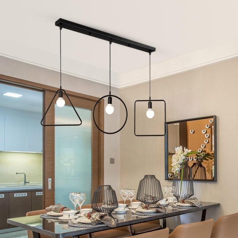 Đèn thả Edison trong không gian bàn ăn