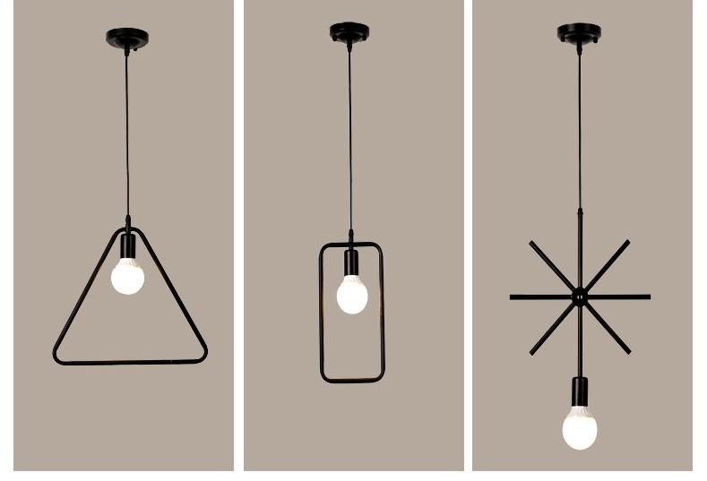 Đèn thả trang trí quán cafe, đèn Edison hình học giá rẻ