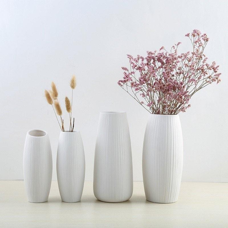 Bộ bình cắm hoa gốm sứ Simple Life