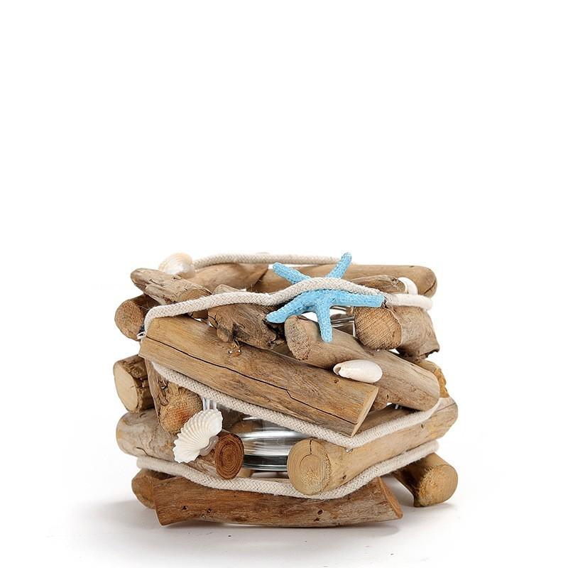 Chậu cây, hoa gỗ để bàn sao biển