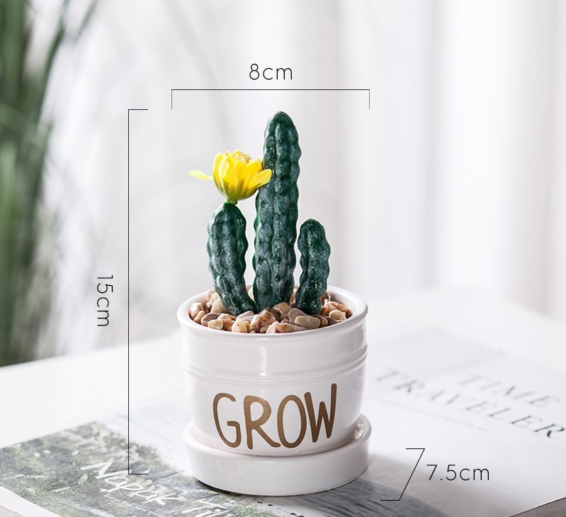 Chậu cây Grow mini mẫu H