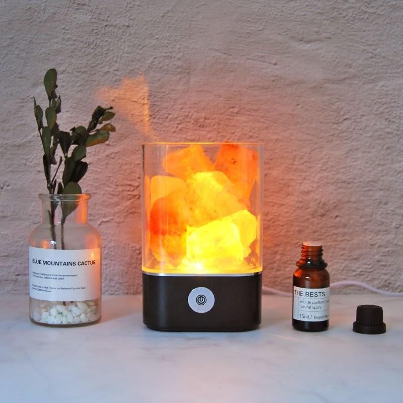 Đèn hồng ngoại đá muối tinh dầu Himalaya