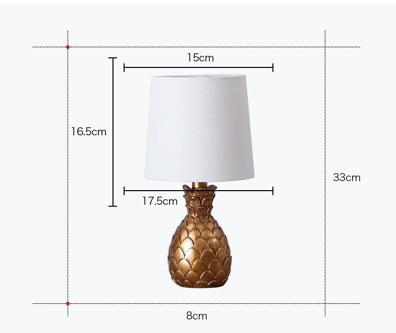 Kích thước đèn trái dứa Yelowin