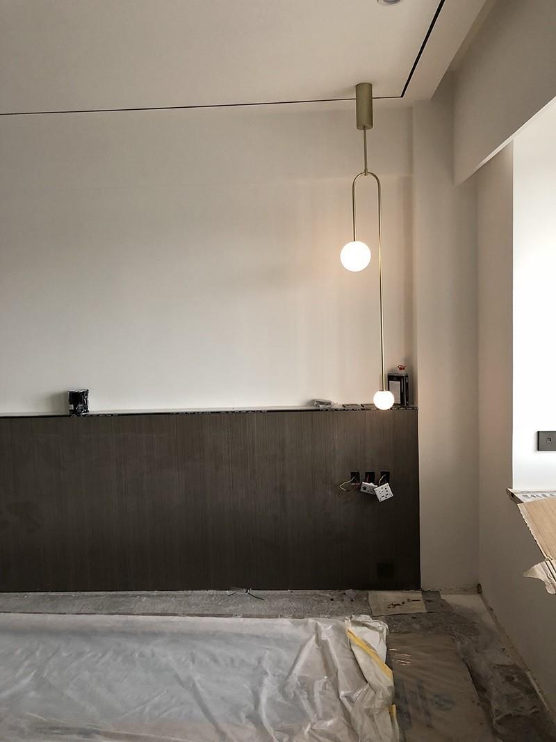 Công trình thi công đèn treo Balance thả trần tại nhà khách