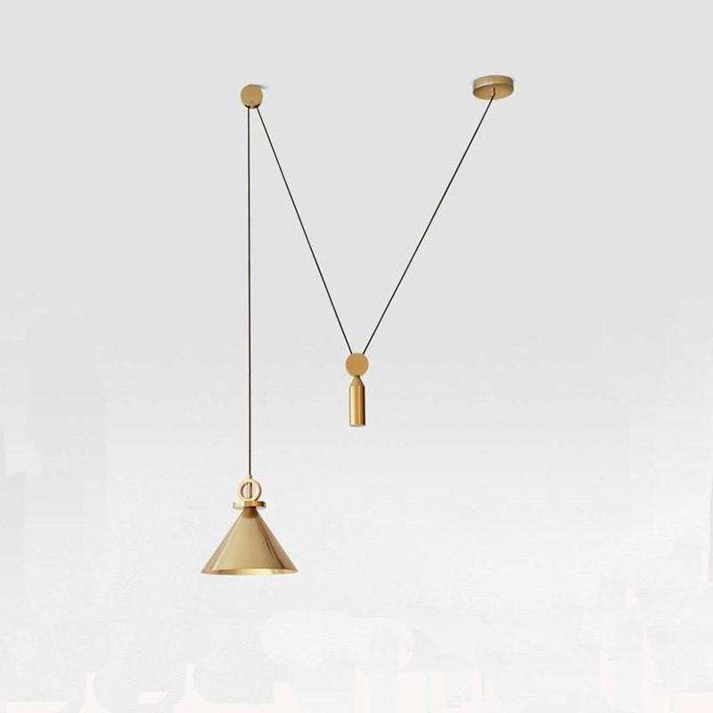 Đèn thả trần Golden Ziczac trang trí bàn ăn