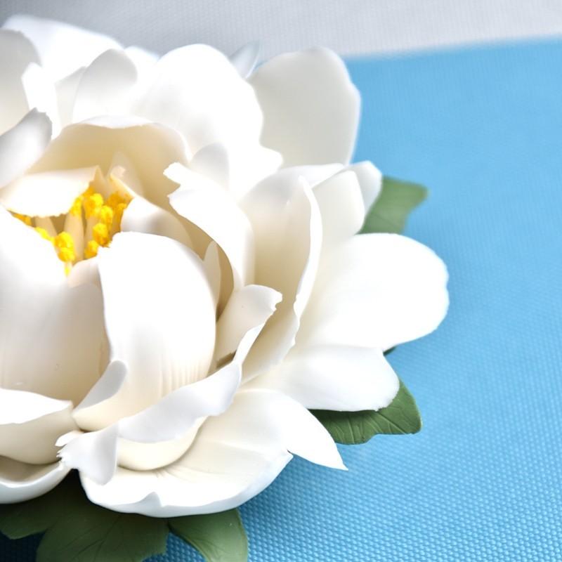 Những cánh hoa được tạo hình kỹ càng, trông sống động như một đóa mẫu đơn thật
