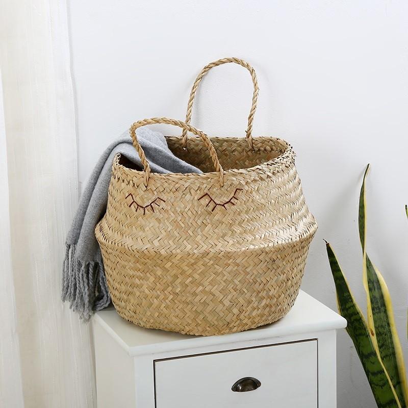 Thiết kế và decor riêng các sản phẩm giỏ cói trồng cây theo yêu cầu