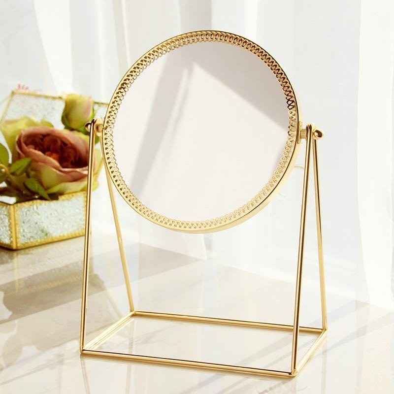 Gương để bàn Circle Golden Mirror