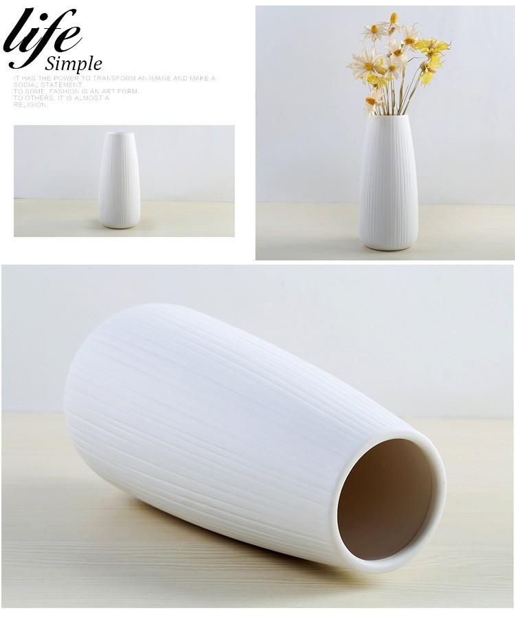 Kích thước bộ bình cắm hoa gốm sứ Simple Life