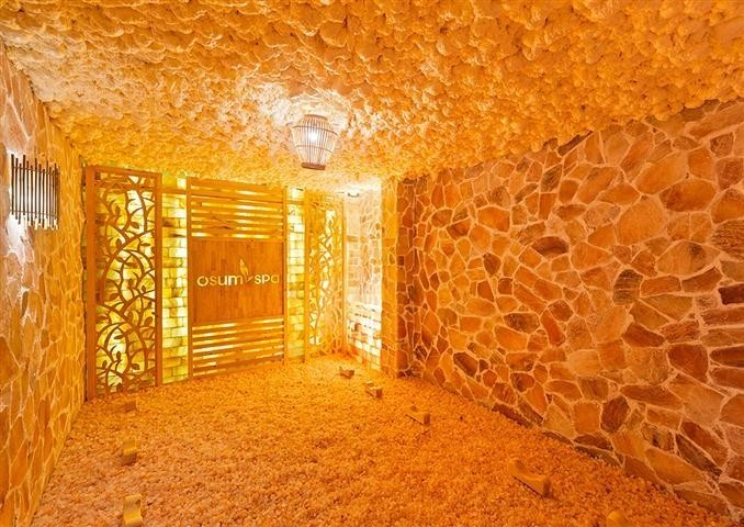Ứng dụng chính mà chúng ta dễ thấy nhất là phòng xông hơi bằng đá muối Himalaya