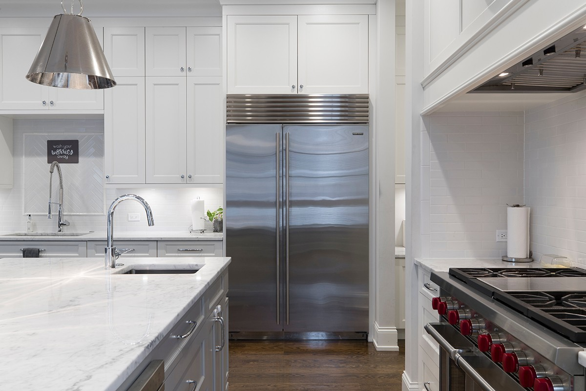 Sử dụng gram màu lạnh trong thiết kế phòng bếp