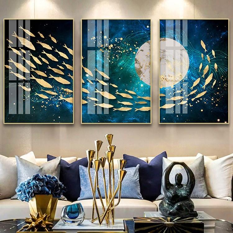 Tranh ghép Moon Fish
