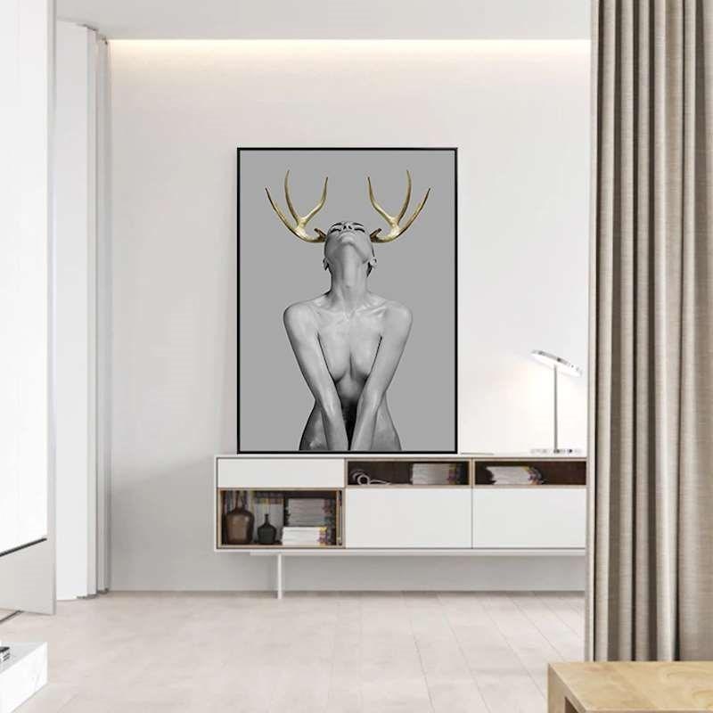 Vẻ đẹp gợi cảm của tranh khoả thân nghệ thuật Artemis Gold