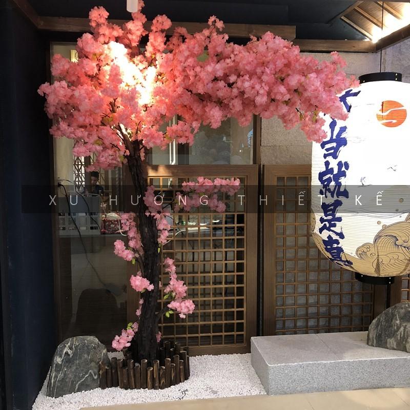 Cây đào Nhật Bản giả trang trí