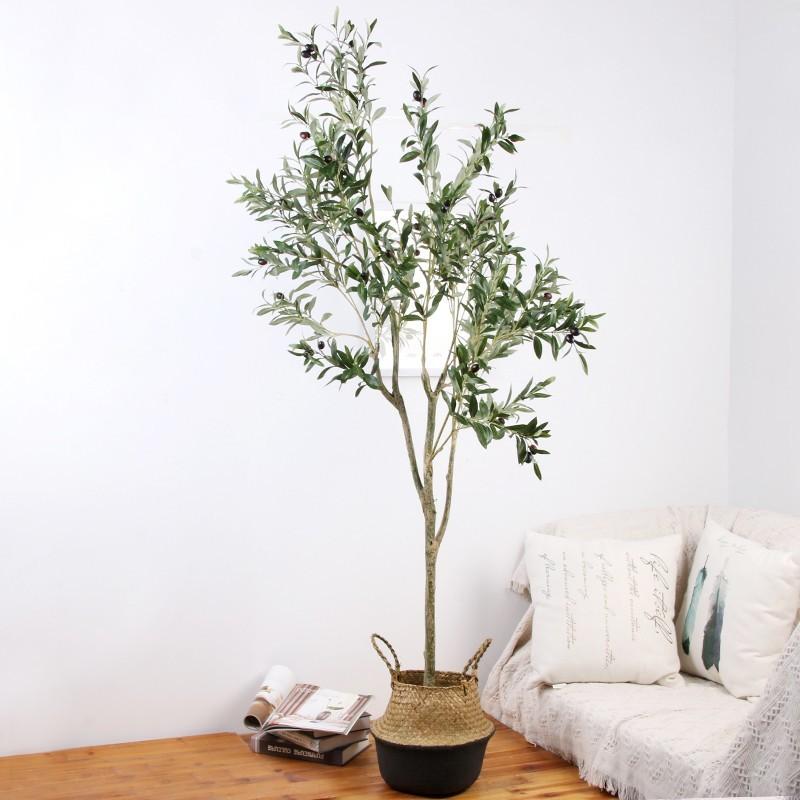 Cây ô liu giả dáng 2 nhánh cây chuyên dụng trong trang trí