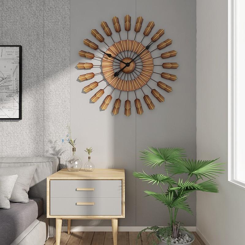 Thiết kế nhẹ nhàng vùng tông màu nâu yên bình của đồng hồ treo tường nghệ thuật Peaceful Brown