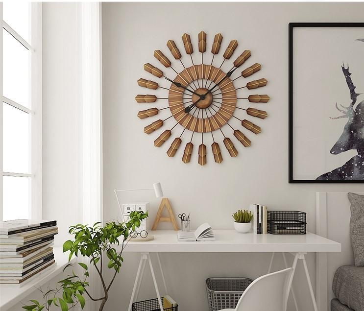 Mẫu đồng hồ treo tường này rất phù hợp với những không gian mang màu sắc Bắc Âu ấm áp