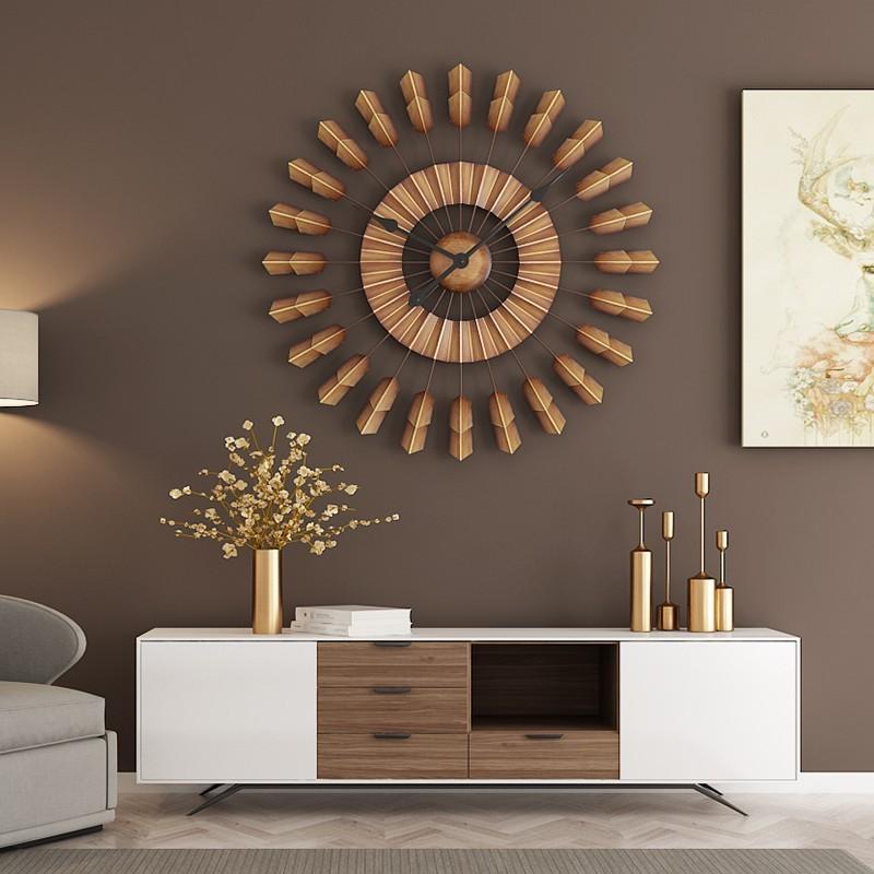 Thiết kế được khắc họa với tông màu nâu trầm ấm của đồng hồ treo tường peaceful Brown
