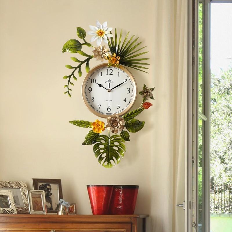 Đồng hồ treo tường nghệ thuật Tropical Flower mẫu B
