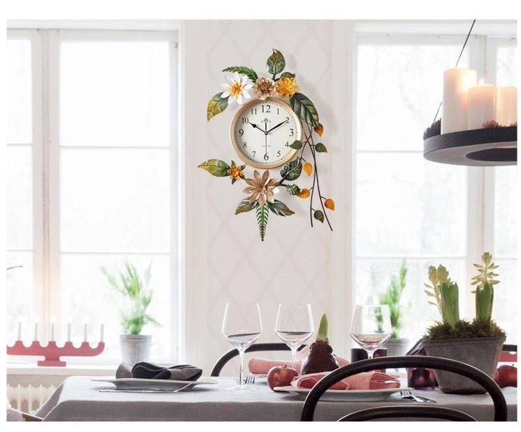Đồng hồ treo tường nghệ thuật Tropical Flower mẫu A