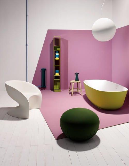 Sử dụng màu tím hoa cà trong trang trí không gian