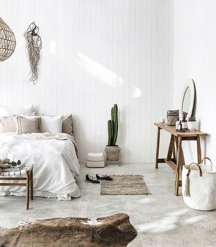 Sử dụng các đồ nội thất bằng tre, nứa, gỗ nhạt màu trong trang trí