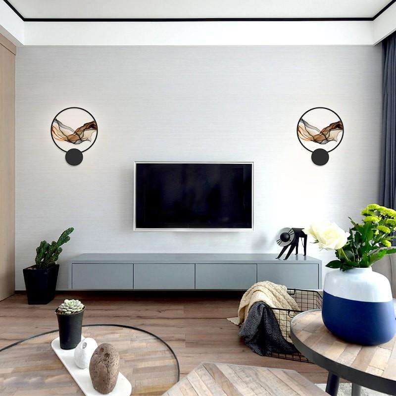 Đèn treo tường Colorful Wave trang trí phòng khách