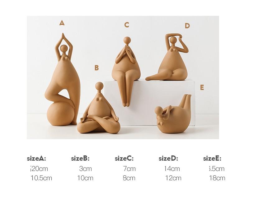 Kích thước tượng Yoga nghệ thuật