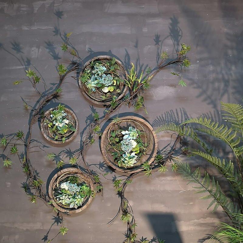 Combo vòng hoa gỗ trang trí không gian