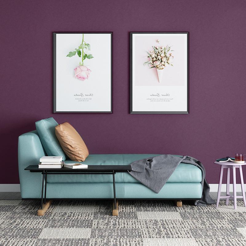 Giấy dán tường màu tím trang trí không gian nghệ thuật