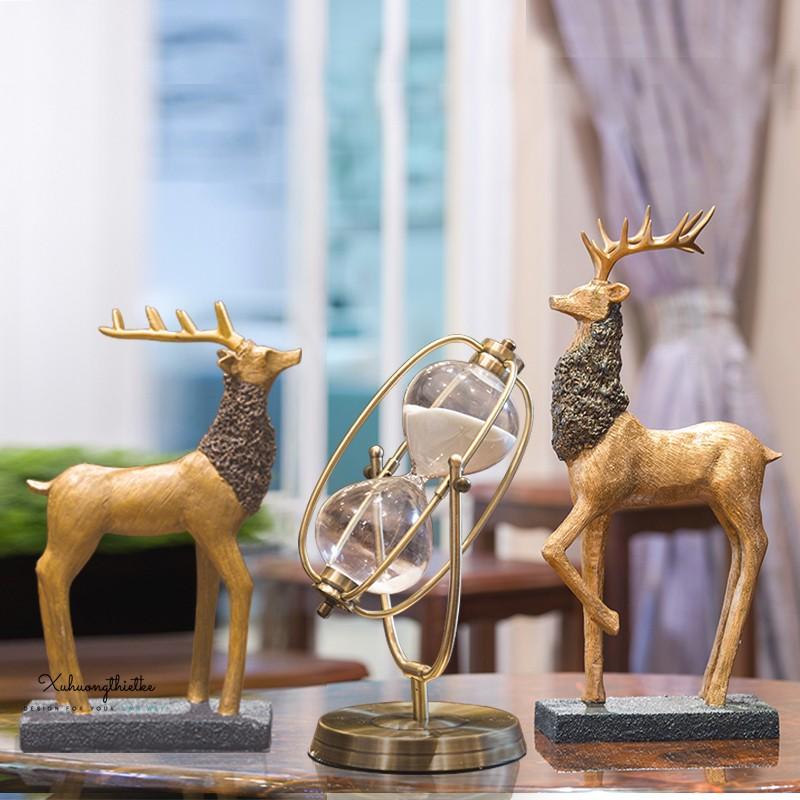 Tượng hươu  Nordic trang trí thích hợp cho các không gian như  bàn góc trang trí, bàn làm việc, kệ sách, kệ tivi,...