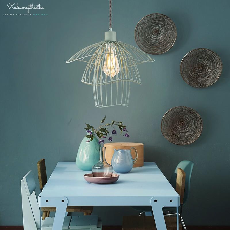 Vẻ đẹp nhả nhặn của đèn thả trần Rosy thích hợp với không gian Scandinavia và Nordic