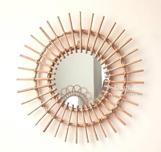 Gương mây treo tường tròn hình mặt trời