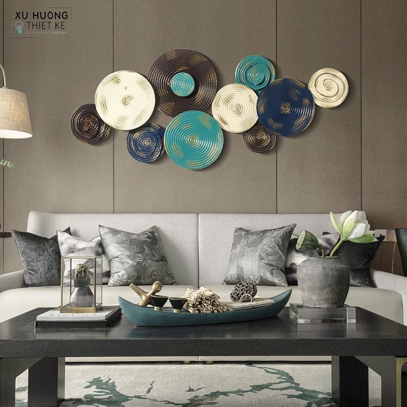 Tranh sắt nghệ thuật Circle Magic tranh trí không gian phòng khách