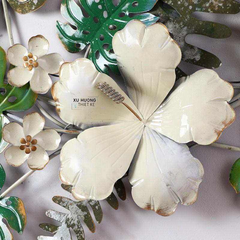 Chi tiết sản phẩm tranh sắt nghệ thuật Tropical Flowers