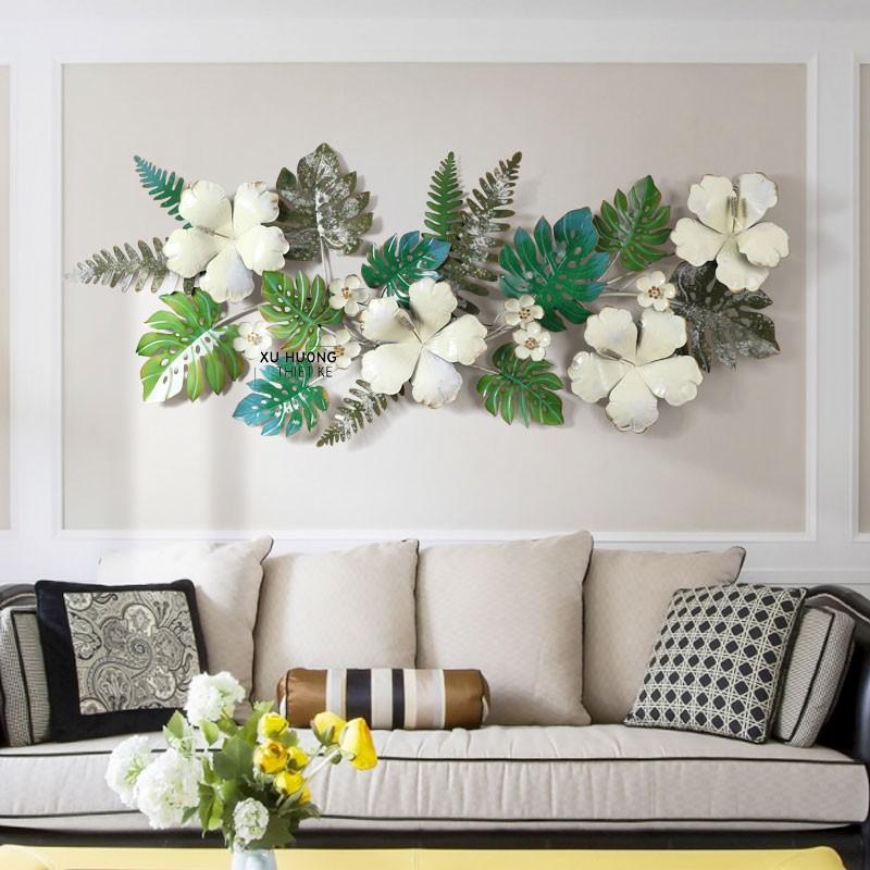 Tranh sắt nghệ thuật Tropical Flowers trang trí phòng khách