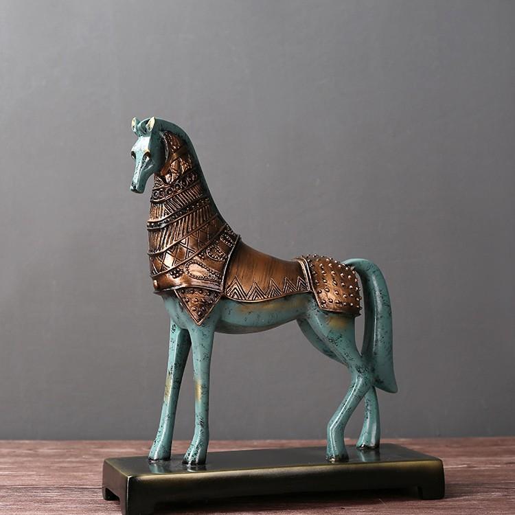 Tượng chiến mã Greek Horse (xanh)